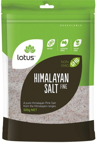 Lotus Salt Himalayan Pink Fine (Bag)  500g
