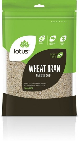Lotus Wheat Bran Unprocessed 300g