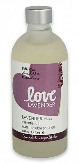 Love Oils Lavender Water Soluble Lavender Oil 100ml