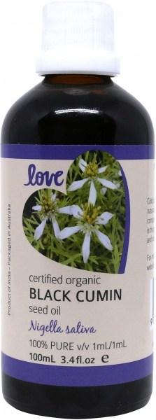 Love Oils Organic Black Cumin Seed Oil 100ml