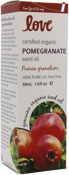 Love Oils Organic Pomegranate Seed Oil 30ml