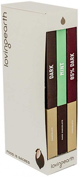 Loving Earth Dark Gift Trio (85%, Mint, Dark 3x80g)