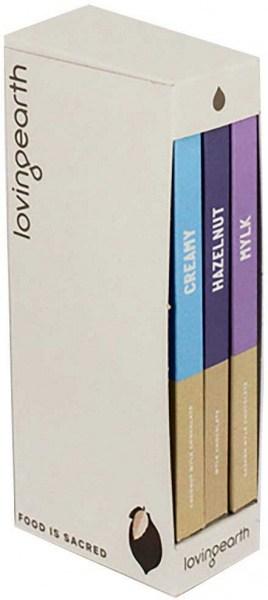 Loving Earth Mylk Gift Trio (Hazelnut, Creamy, Mylk 3x80g)