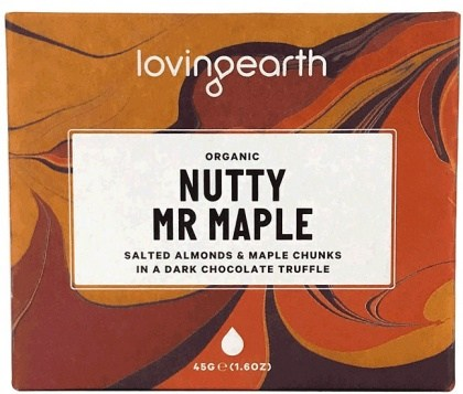 Loving Earth Nutty Mr Maple Chocolate Bar  11x45g