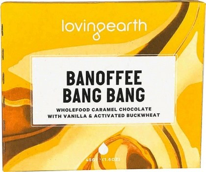 Loving Earth Organic Banoffee Bang Bang Chocolate Bar  11x45g