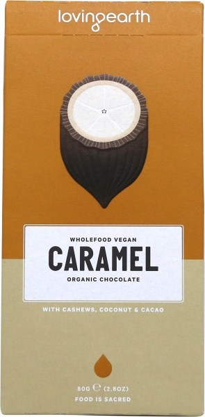 Loving Earth Organic Caramel Chocolate 80g