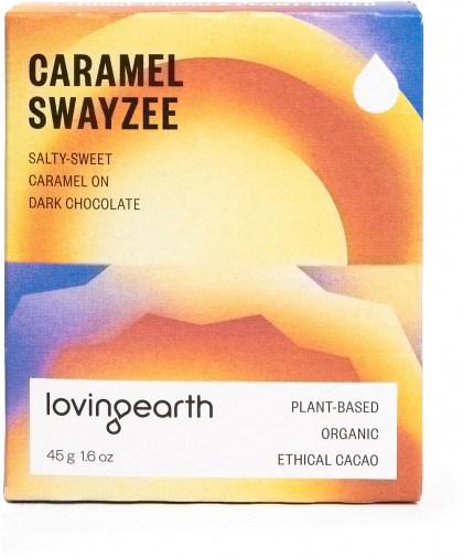 Loving Earth Organic Caramel Swayze Chocolate Bars 11x45g