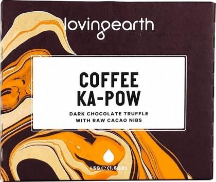 Loving Earth Organic Coffee Ka-Pow Chocolate Bar  11x45g