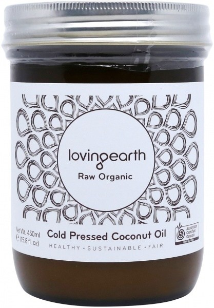 Loving Earth Organic Cold Pressed Coconut Oil 450ml