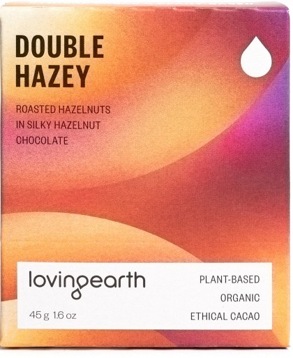 Loving Earth Organic Double Hazey Chocolate Bars 11x45g