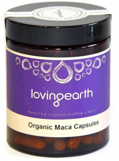 Loving Earth Organic Maca in Vegetable Capsules 500mg  120caps