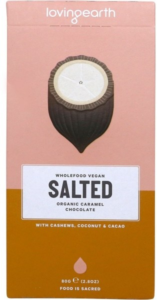 Loving Earth Organic Salted Caramel Chocolate 80g