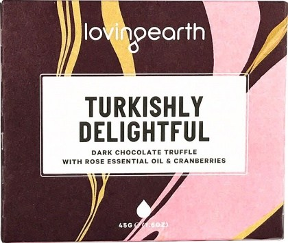 Loving Earth Organic Turkishly Delightful Chocolate Bar  45g