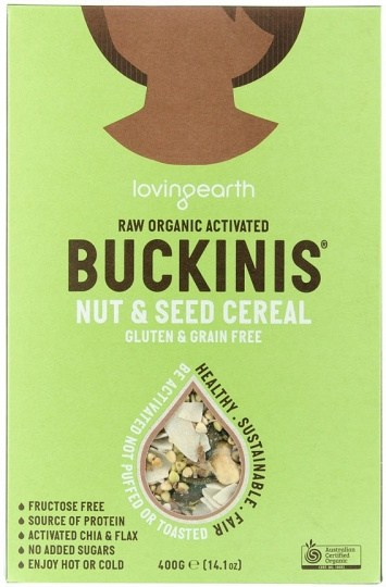 Loving Earth Raw Organic Buckinis - Nut & Seed Cereal  400g
