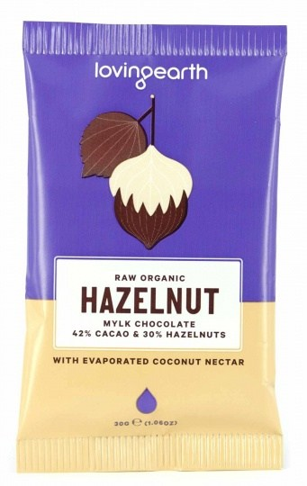 Loving Earth Raw Organic Hazelnut Mylk Chocolate 16x30g