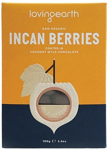 Loving Earth Raw Organic Incan Berries Coated In Coconut Mylk Chocolate  100g
