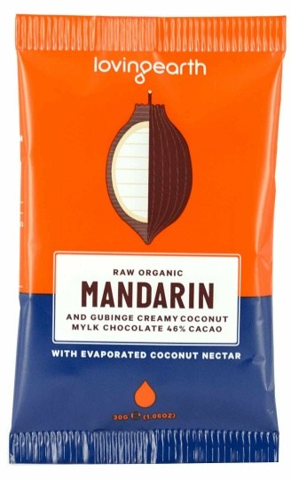 Loving Earth Raw Organic Mandarin & Gubinge Creamy Chocolate 16x30g