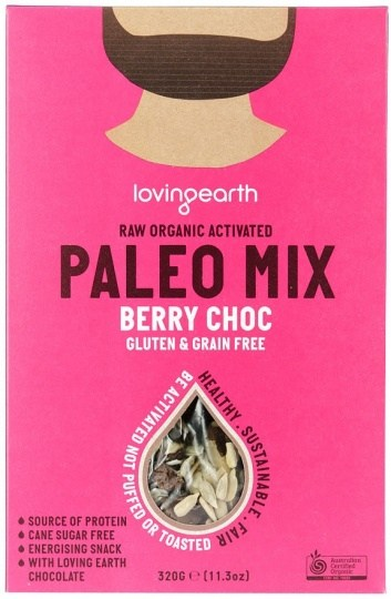 Loving Earth Raw Organic Paleo Mix - Berry Choc  320g
