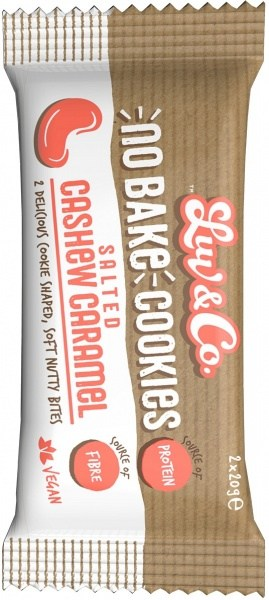 Luv & Co No Bake Cookies Salted Cashew Caramel 2x20g