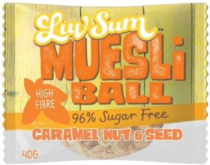 Luv Sum Muesli Caramel, Nut & Seed Balls12x40g