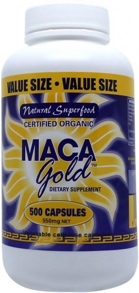 Maca Gold Organic Capsules 550mg 500caps