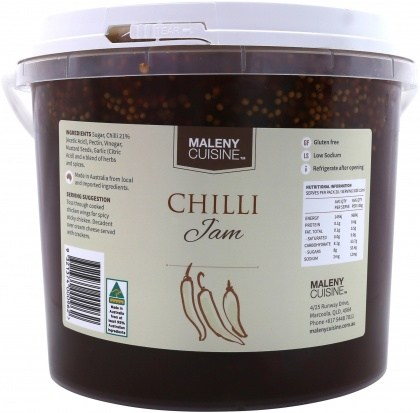 Maleny Cuisine Chilli Jam 2.2L