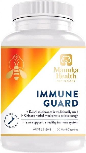 Manuka Health Immune Guard + Reishi Mushroom + Zinc 60 Caps