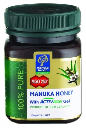 Manuka Health MGO 250+ Manuka Honey with Activaloe Gel 250g