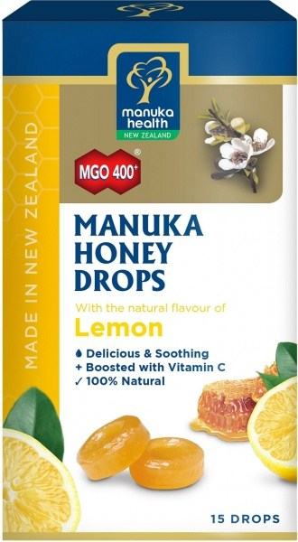 Manuka Health MGO 400+ Manuka Honey & Lemon Lozenges 15s