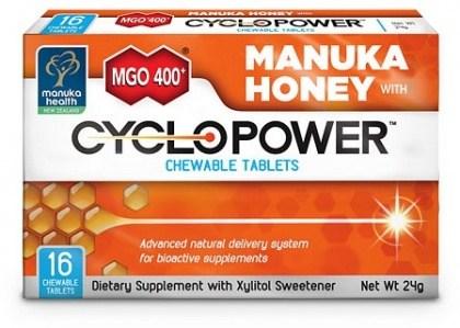Manuka Health MGO400+ Manuka Honey with CycloPower 16 Chewable Tablets