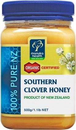 Manuka Health Organic Honey Southern Clover 500g