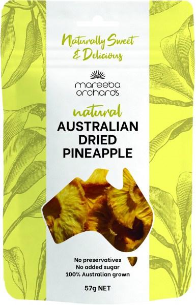 Mareeba Natural Australian Dried Pineapple 57g