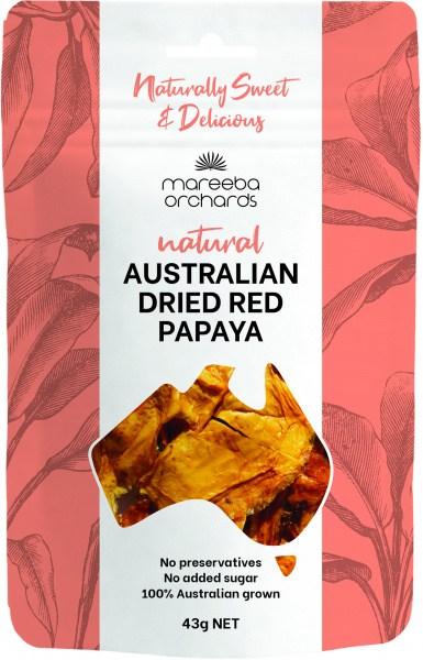 Mareeba Natural Australian Dried Red Papaya 43g