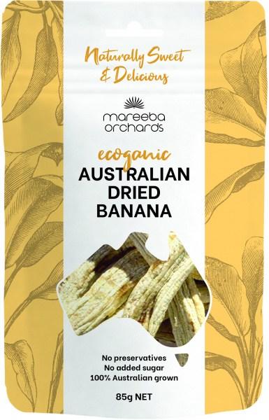 Mareeba Orchards Ecoganic Australian Dried Banana 85g
