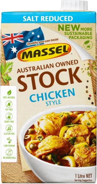 Massel Organic Liquid Chicken Stock Salt Reduced 1L