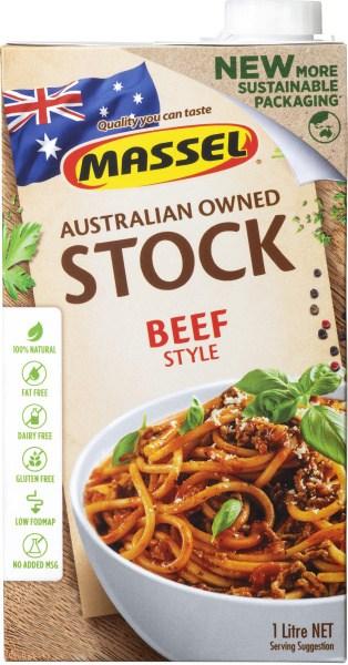 Massel Organic Plant Based Liquid Beef Style Stock  1L