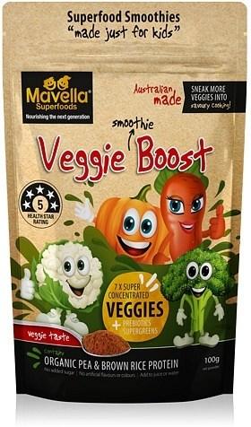 Mavella Superfoods Smoothie for Kids Veggie Boost Veggie Taste Powder 100g