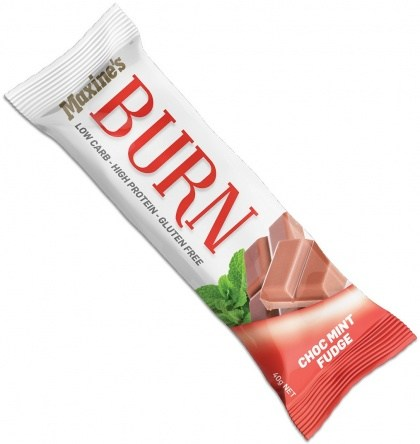 Maxine's Burn Bar Choc Mint Fudge  12x40g
