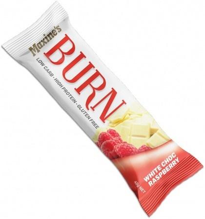 Maxine's Burn Bar White Choc Raspberry 12x40g