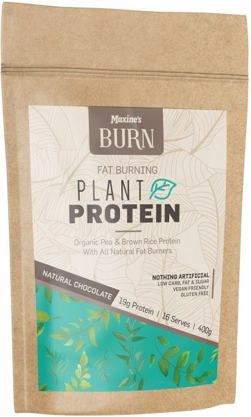 Maxine's Burn Plant Protein Rich Natural Chocolate 400g Bag