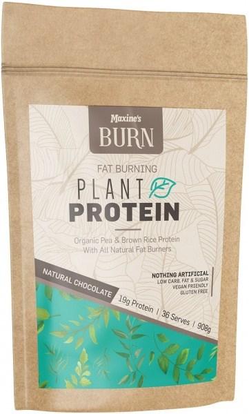 Maxine's Burn Plant Protein Rich Natural Chocolate 908g Bag FEB21