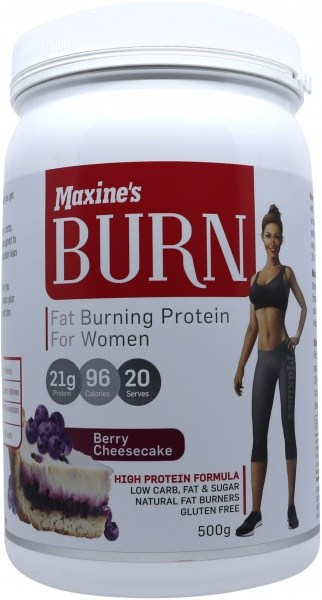 Maxine's Burn Protein Powder Berry Cheesecake  500g