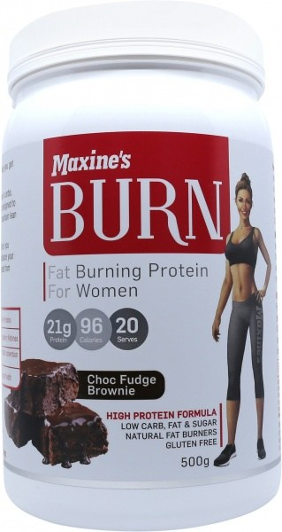 Maxine's Burn Protein Powder Choc Fudge Brownie  500g