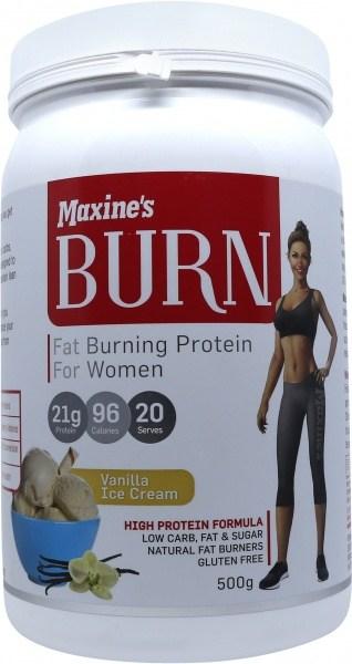 Maxine's Burn Protein Powder Vanilla Ice Cream  500g