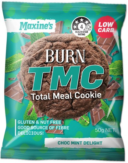 Maxine's Burn TMC Total Meal Cookie Choc Mint Delight  12x50g