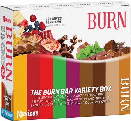 Maxine's Burn Variety Box  12x40g