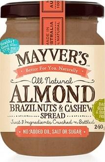 Mayvers Almond, Brazil & Cashew Spread  240g