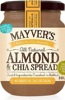 Mayvers Almond & Chia Spread  240g