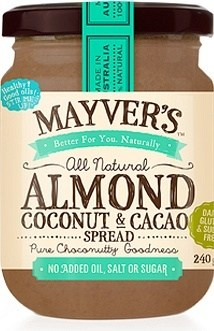 Mayvers Almond, Coconut & Cacao Spread  240g