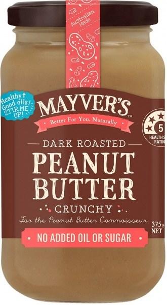 Mayvers Dark Roasted Peanut Butter Crunchy 375g